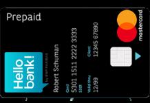 Carte prépayée de Hello Bank